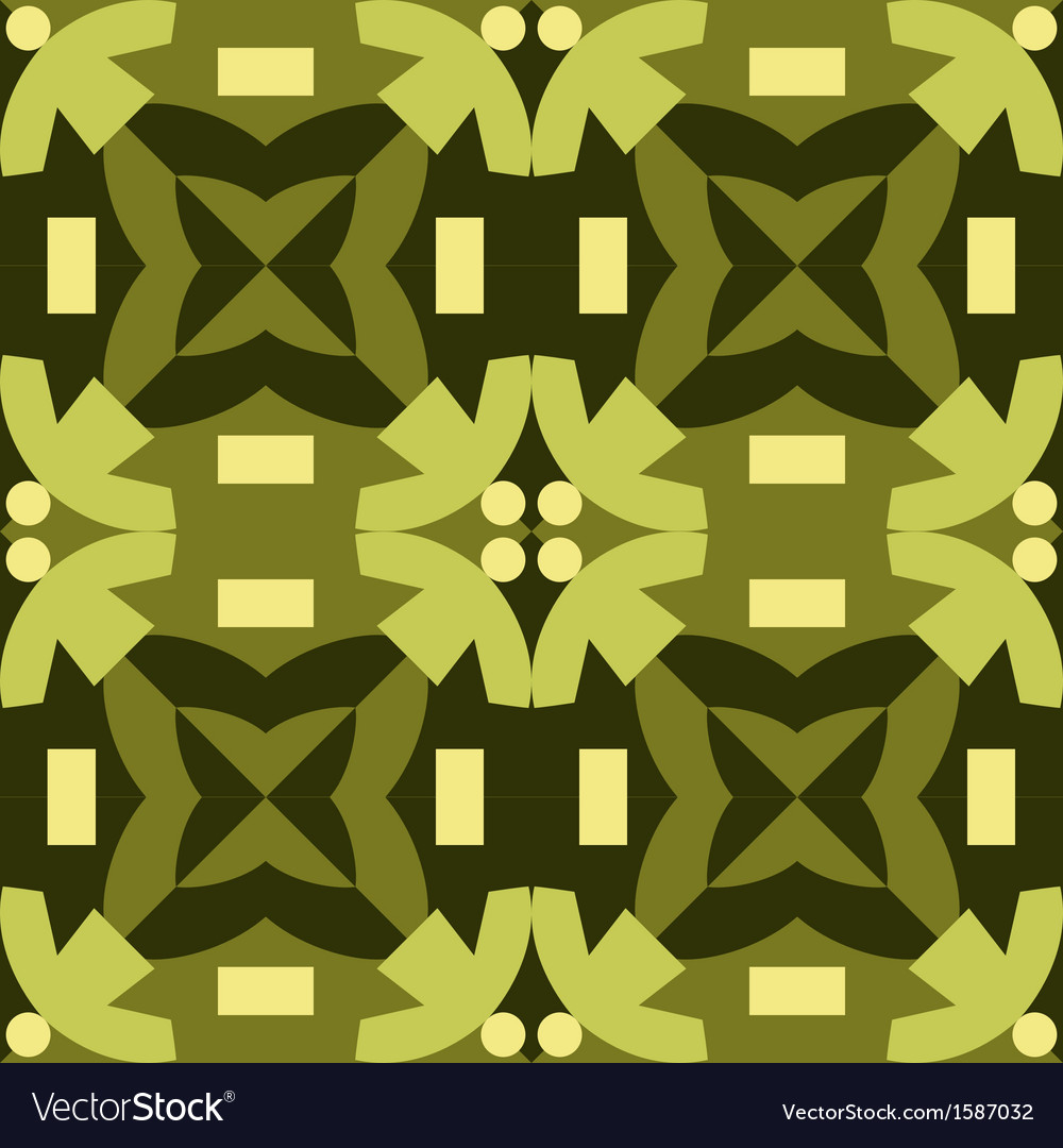 Green seamless pattern made from man figures