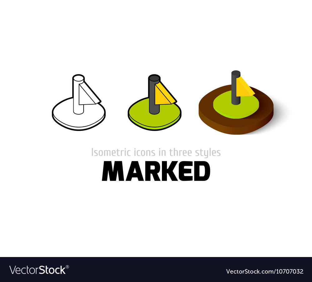Marked icon in different style