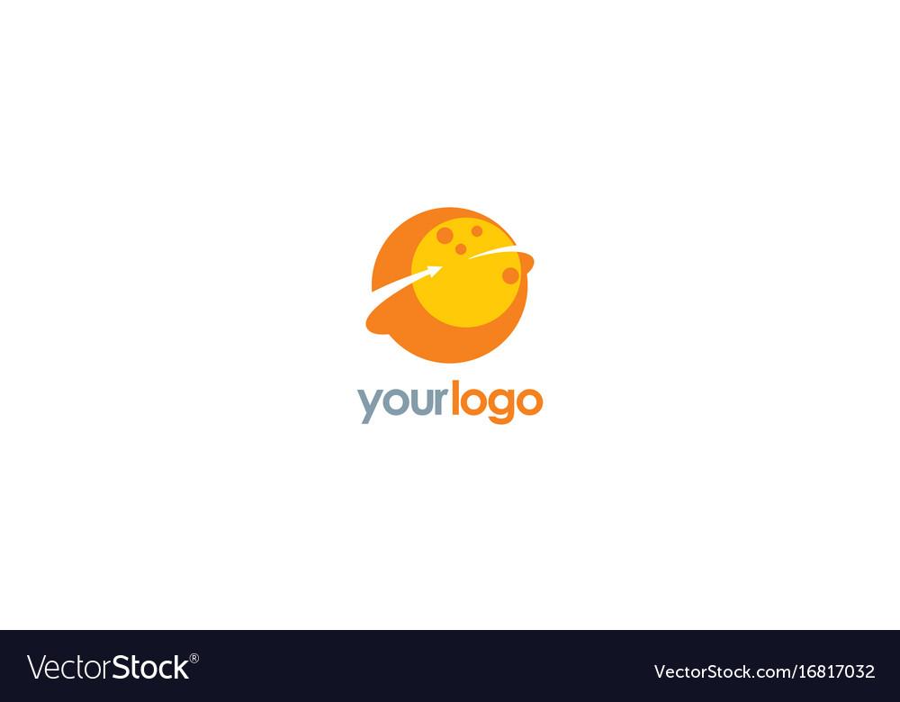 Planet round arrow logo