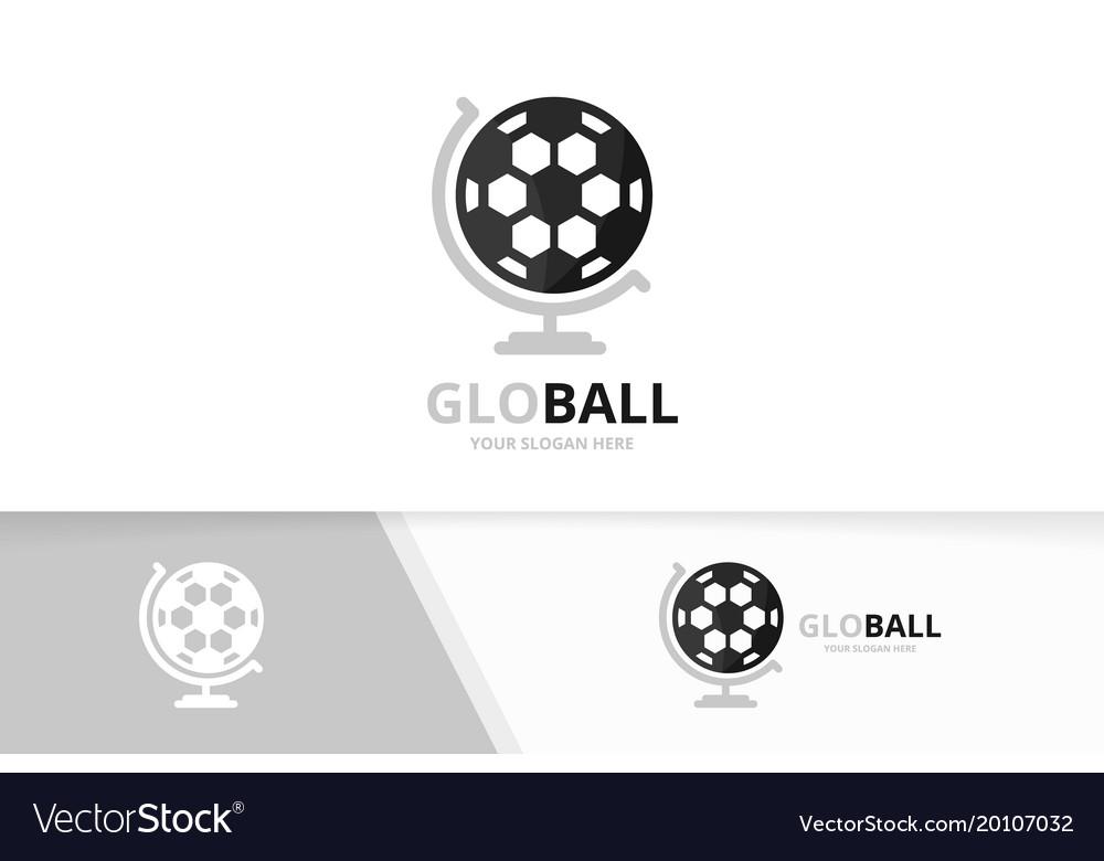 Soccer and globe logo combination ball
