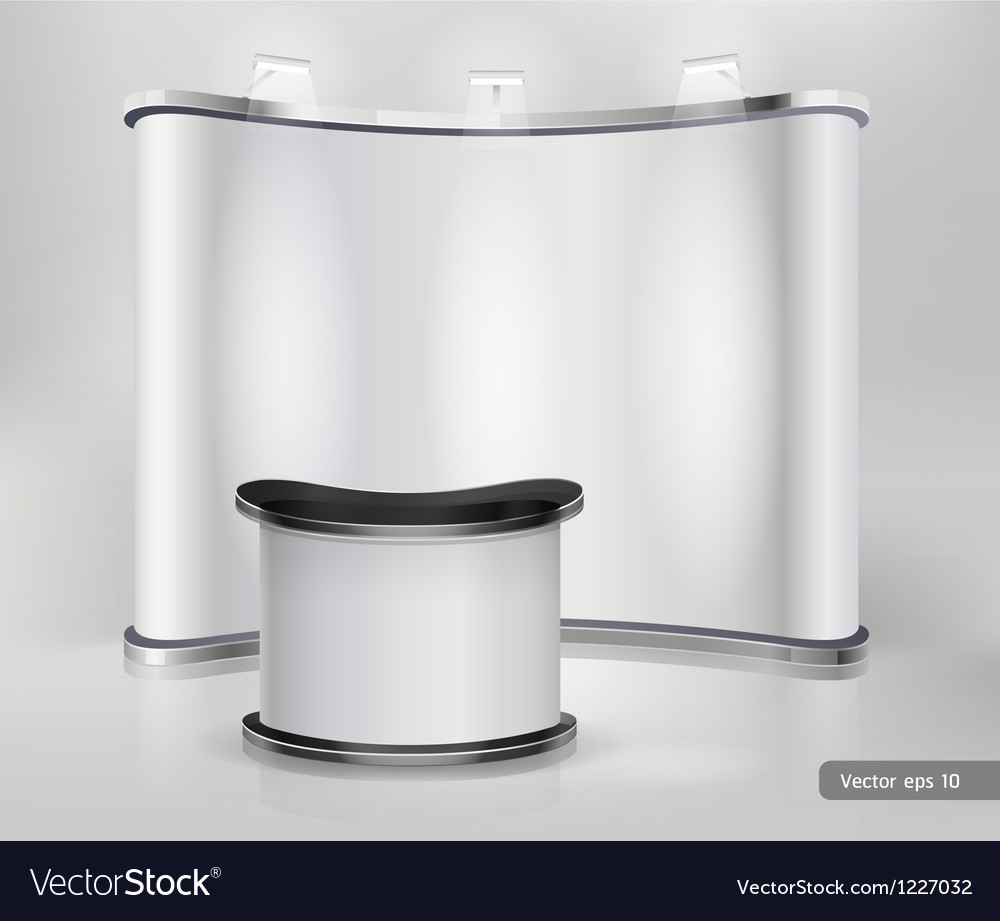Trade Exhibition Stand Vector : Trade exhibition stand display royalty free vector image