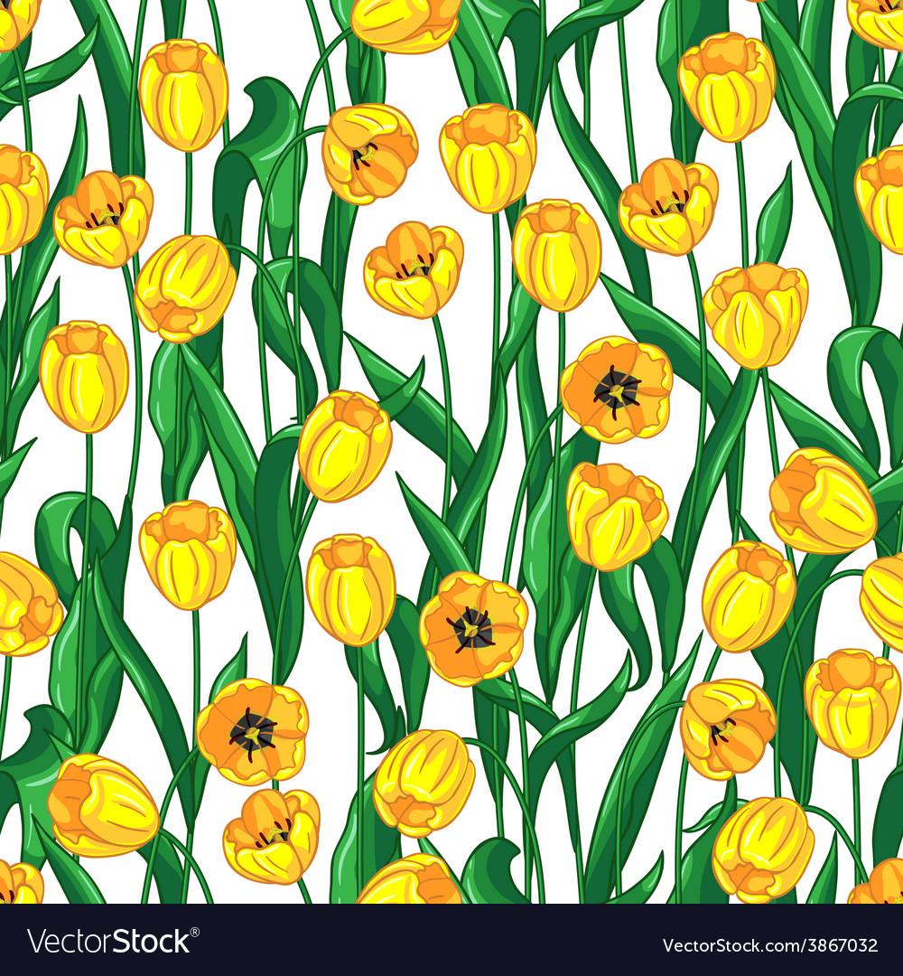 Yellow tulips pattern