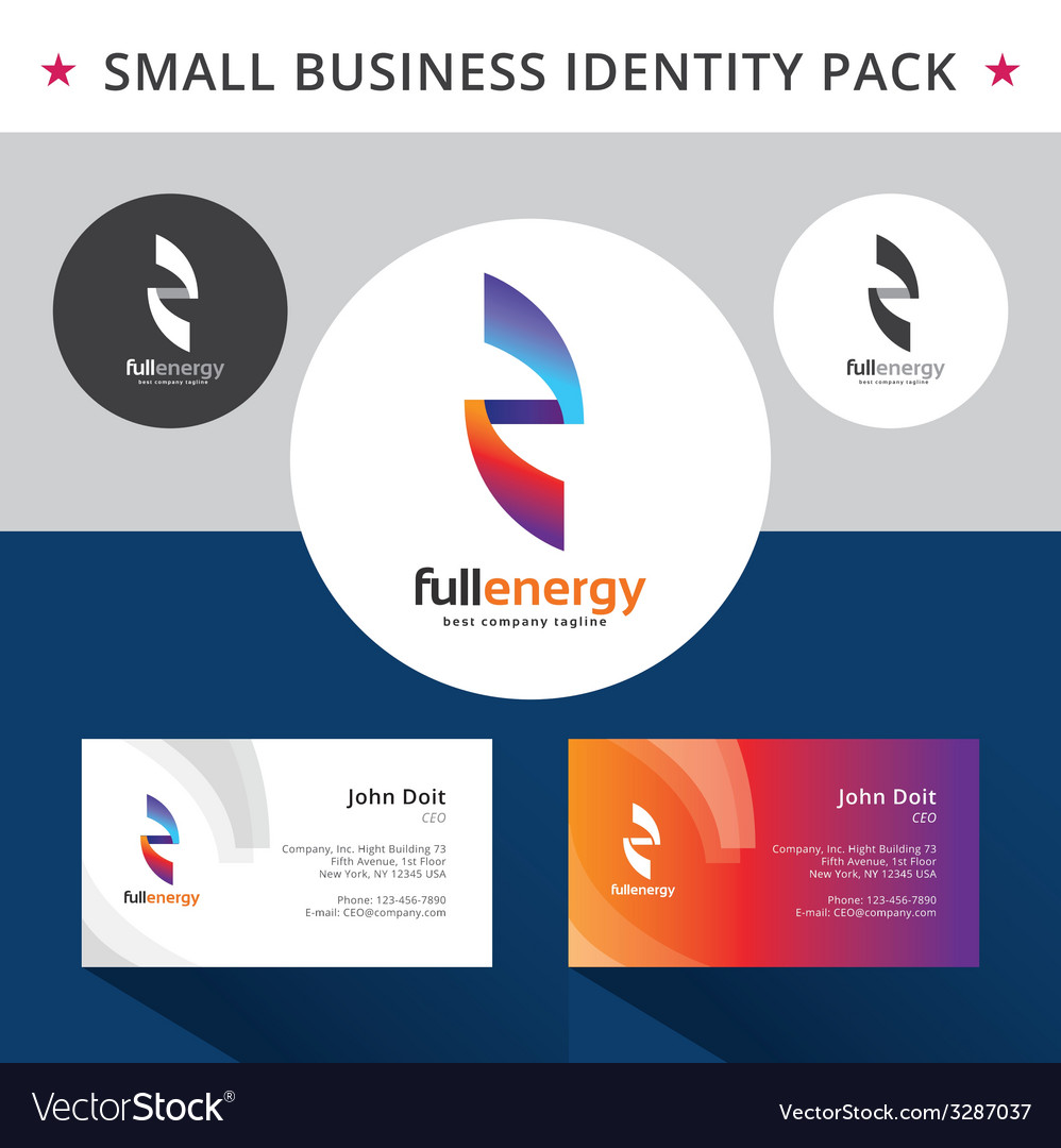 Abstract energy identity pack concept Good for vector image