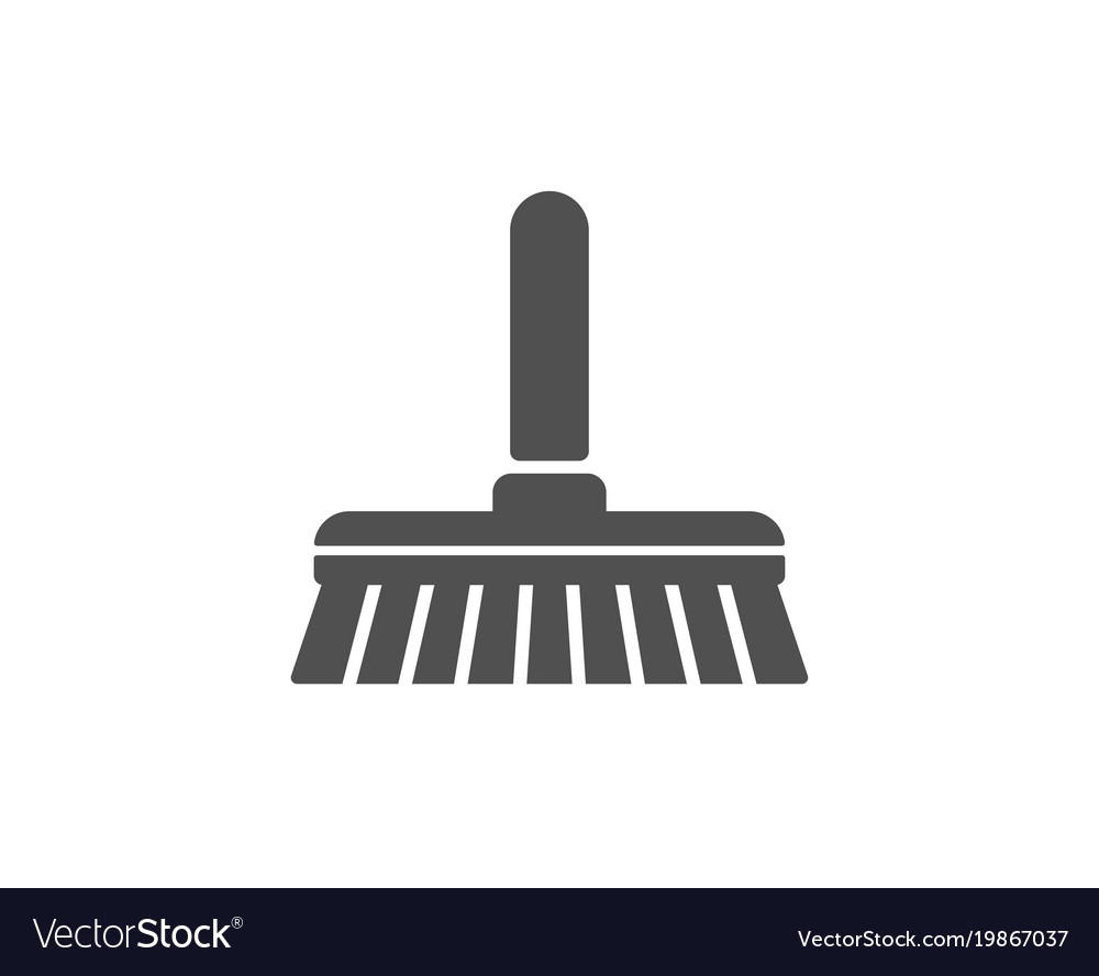 Cleaning mop simple icon sweep a floor vector image