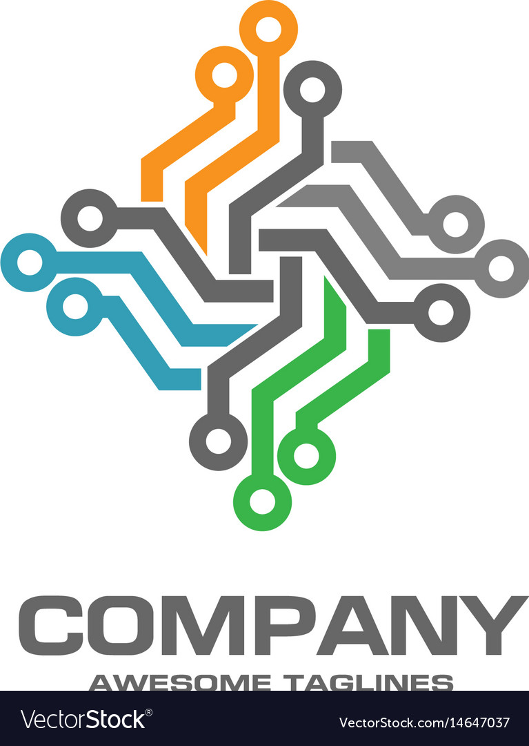 Digital Electronics Logo Design Royalty Free Vector Image Electronic