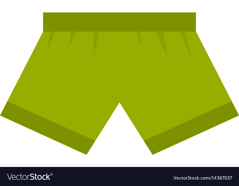 Green man boxer briefs icon isolated