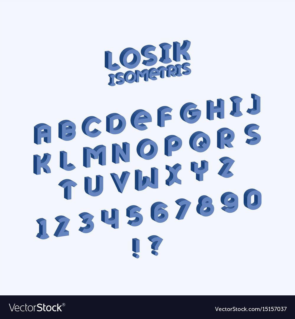 Losik isometric font