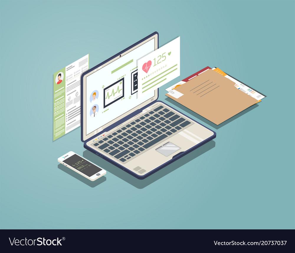 Medical laptop concept