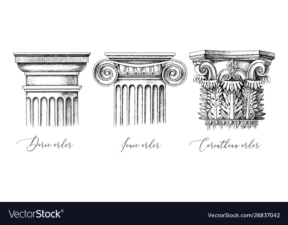 Architectural orders 3 types classical