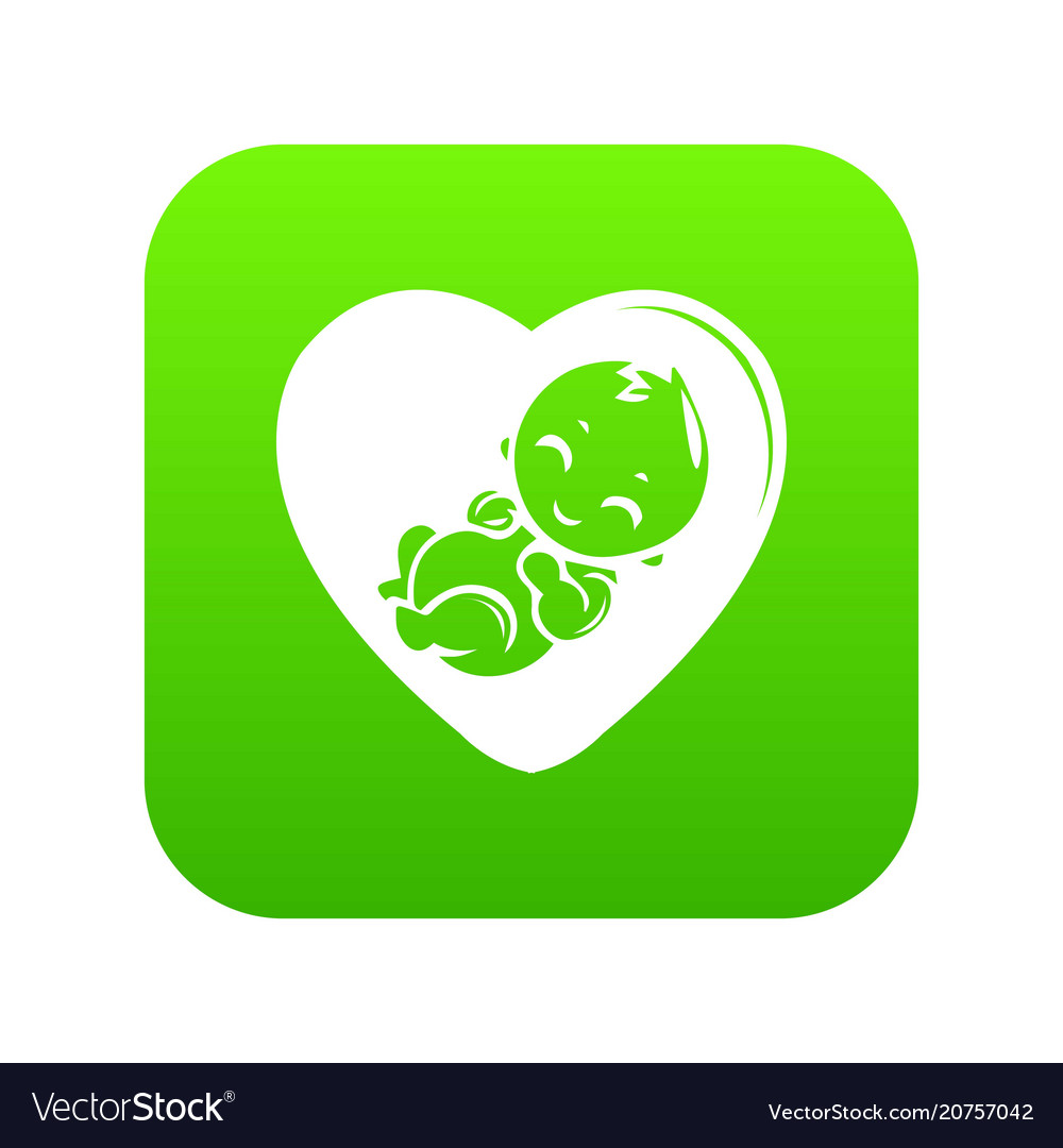 Baby icon green