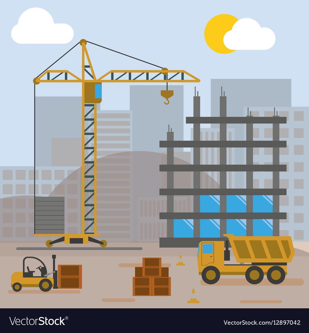 Construction Site Building House