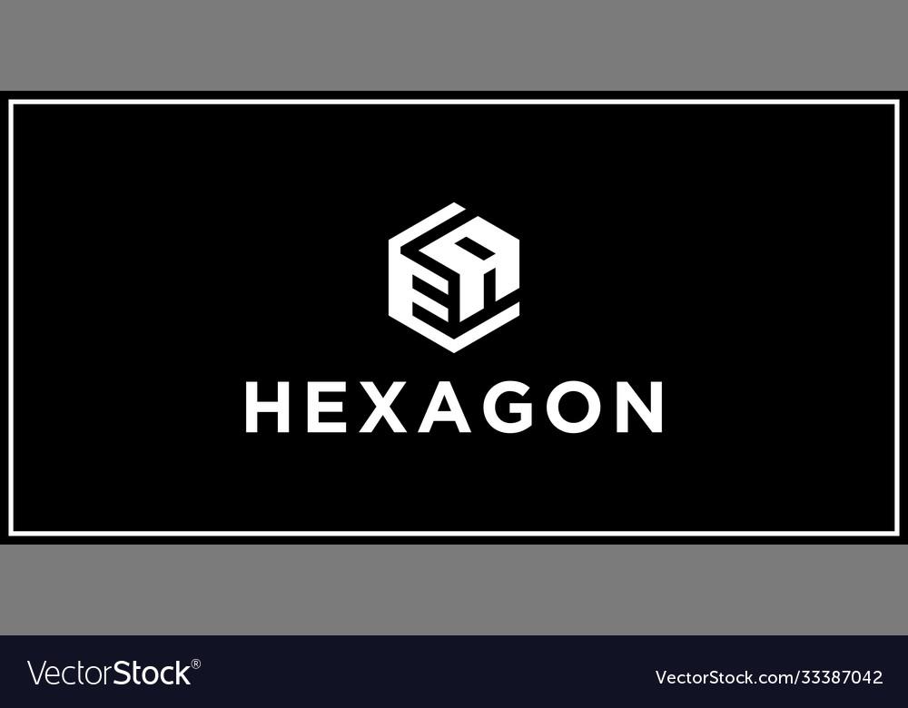 Ea hexagon logo design inspiratio