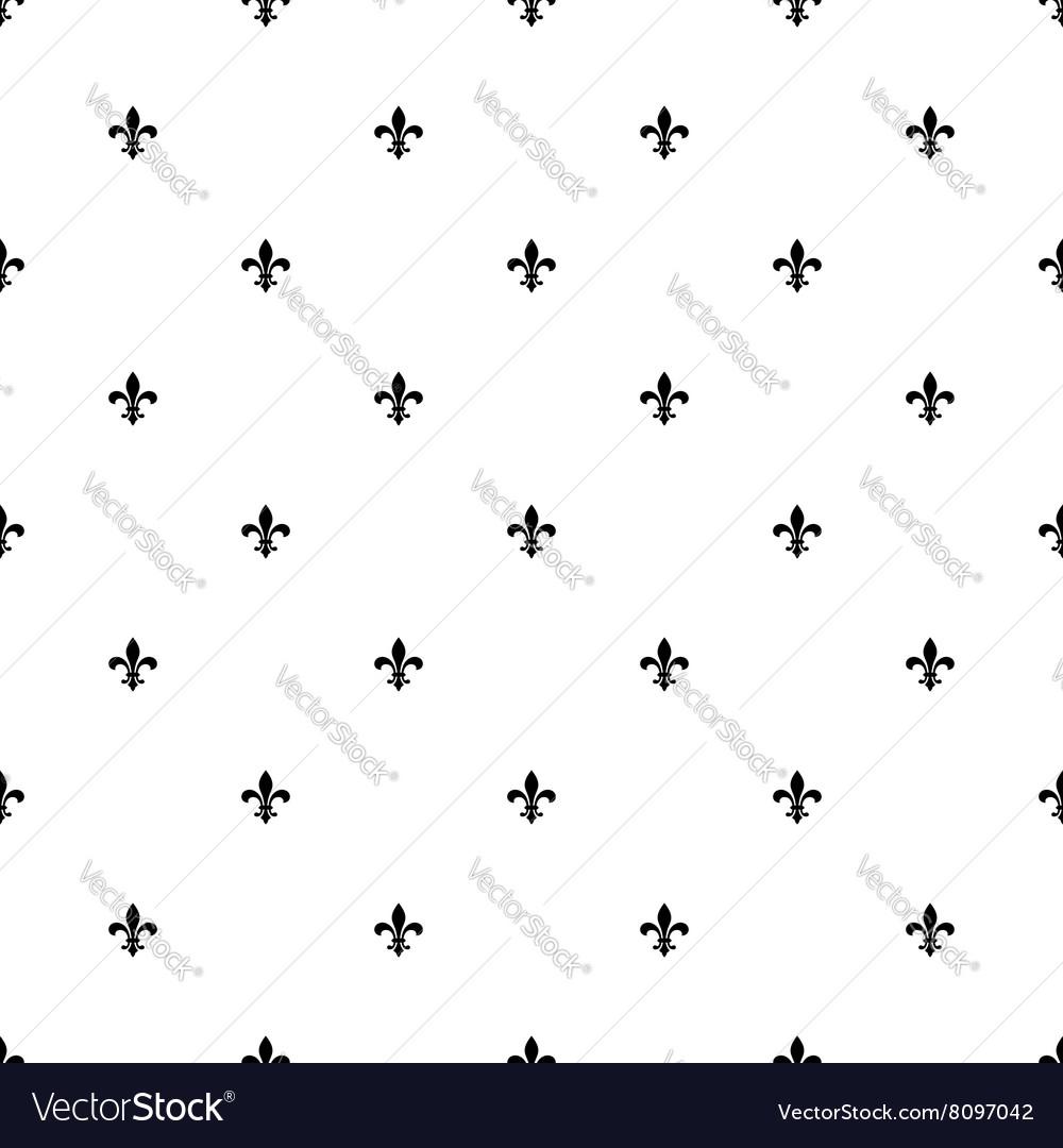 Fleur de lis seamless pattern background