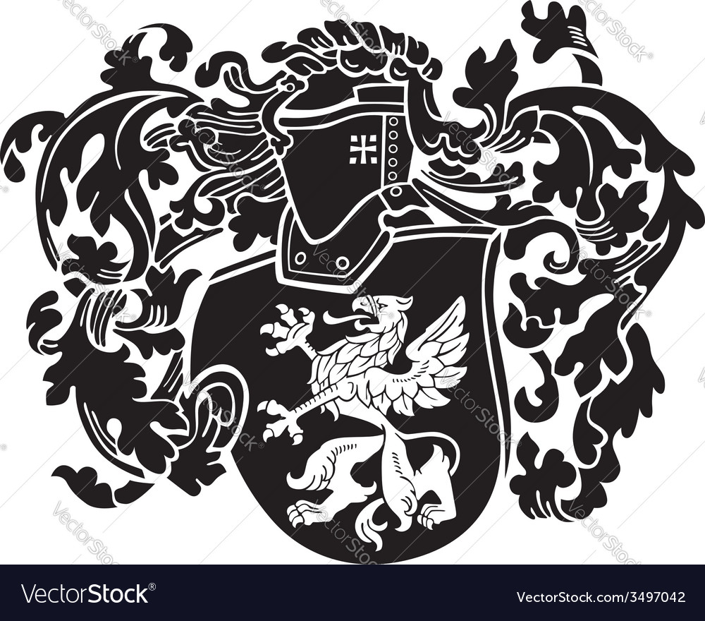 Heraldic silhouette No44