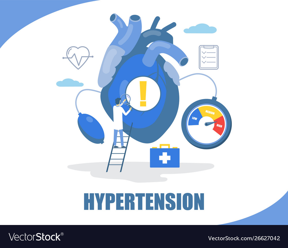 Hypertension concept flat style design