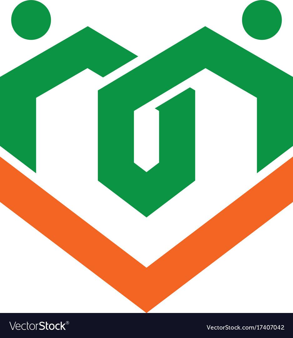 Love healthcare icon logo