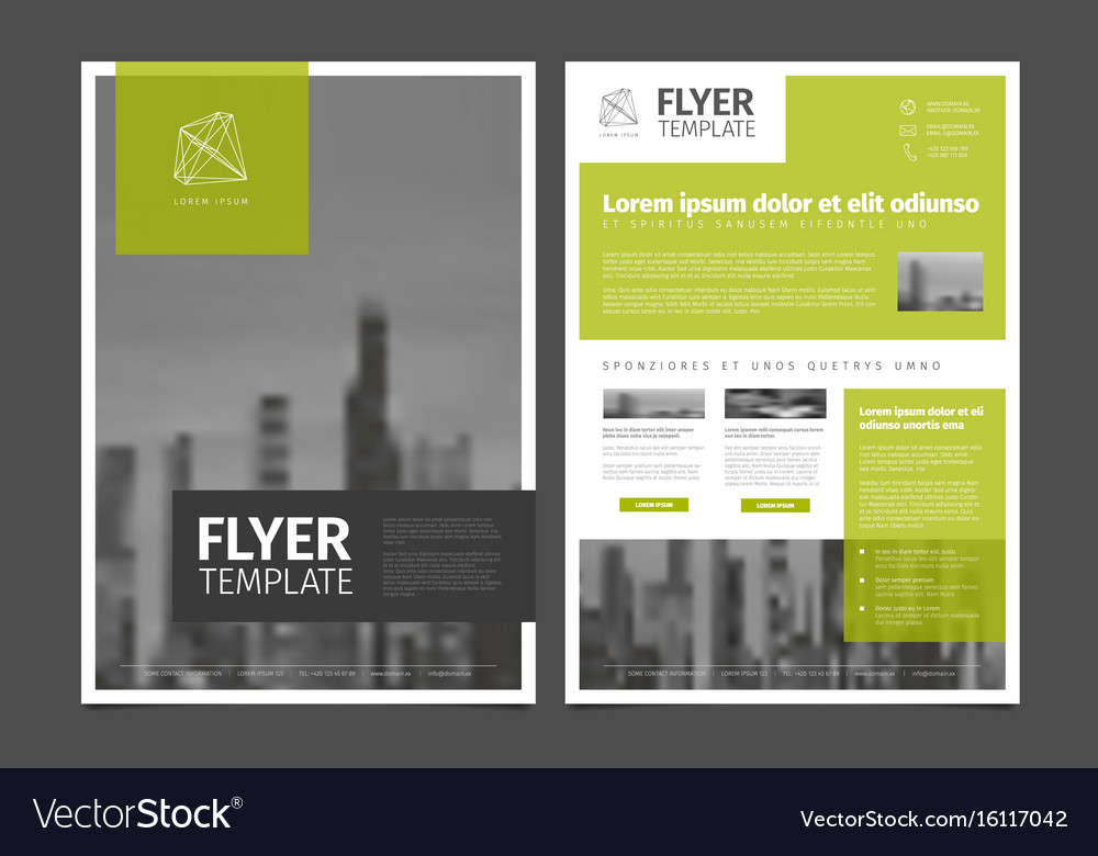 Modern Brochure Template Flyer Design Template Vector Image On Vectorstock