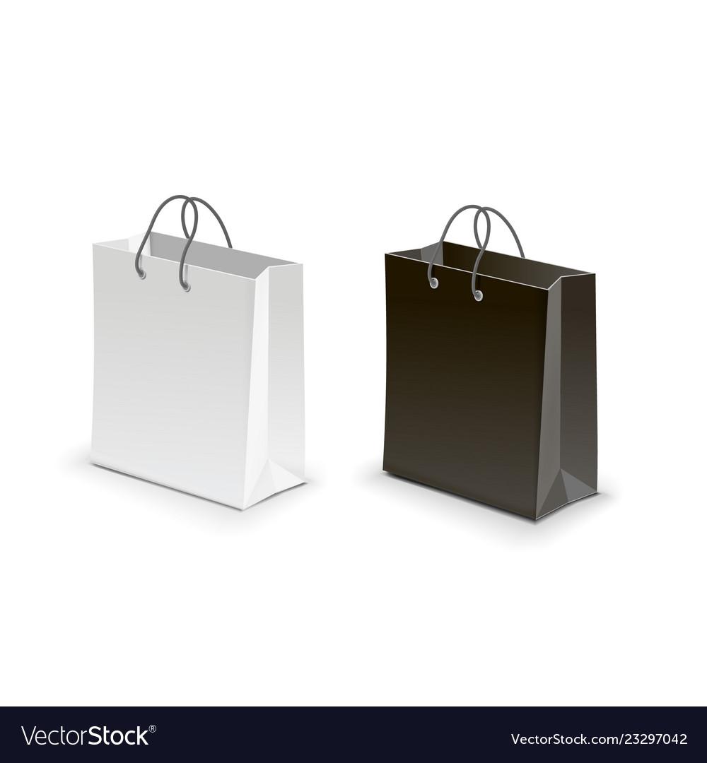 Shopping bag black white