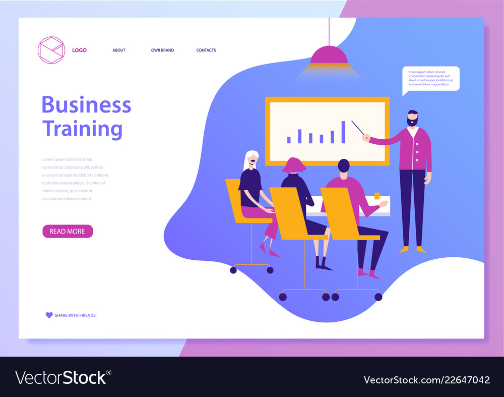 Web page design template for e-learning