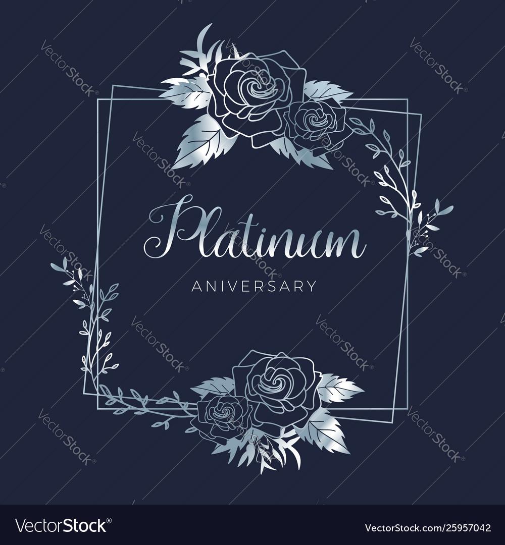Wedding platinum floral wedding anniversary