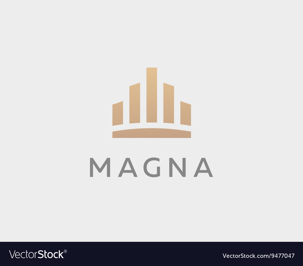 Abstract city town logo icon design Crown vector image