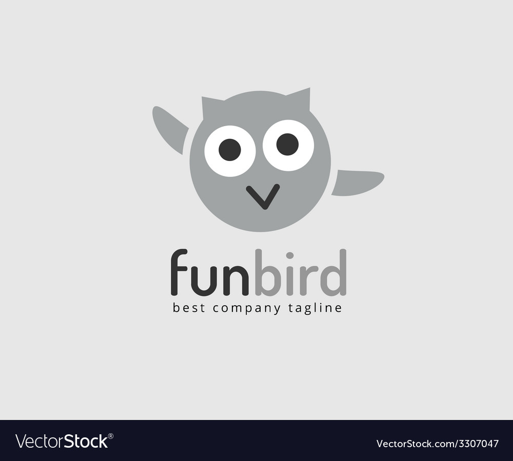 Abstract owl cute character logo icon concept
