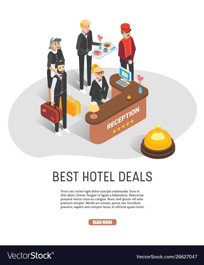 Best hotel deals web banner template