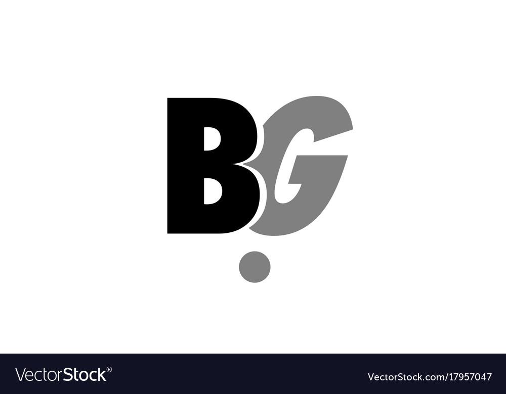 Bg b g black white grey alphabet letter logo icon vector image altavistaventures Choice Image