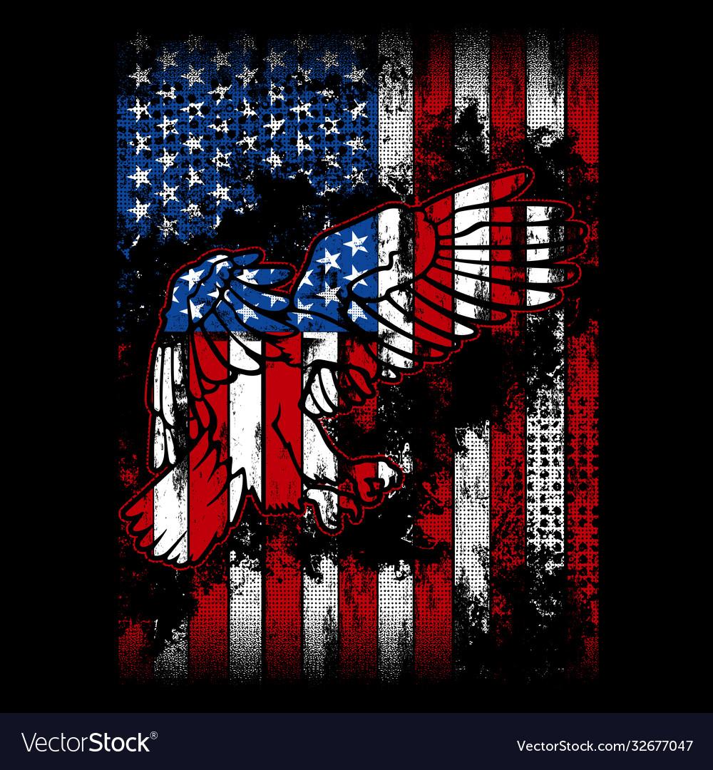 Eagle flag - american flag