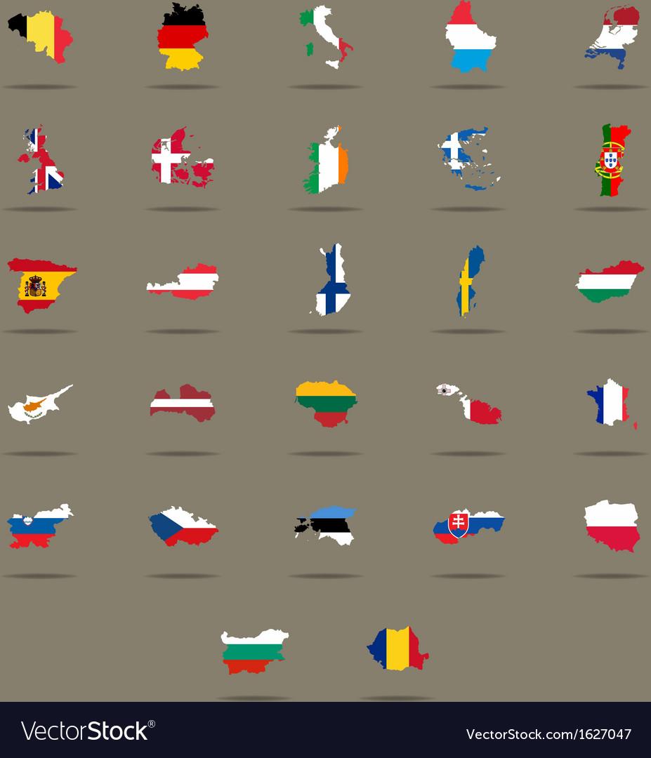 European Union country flags set