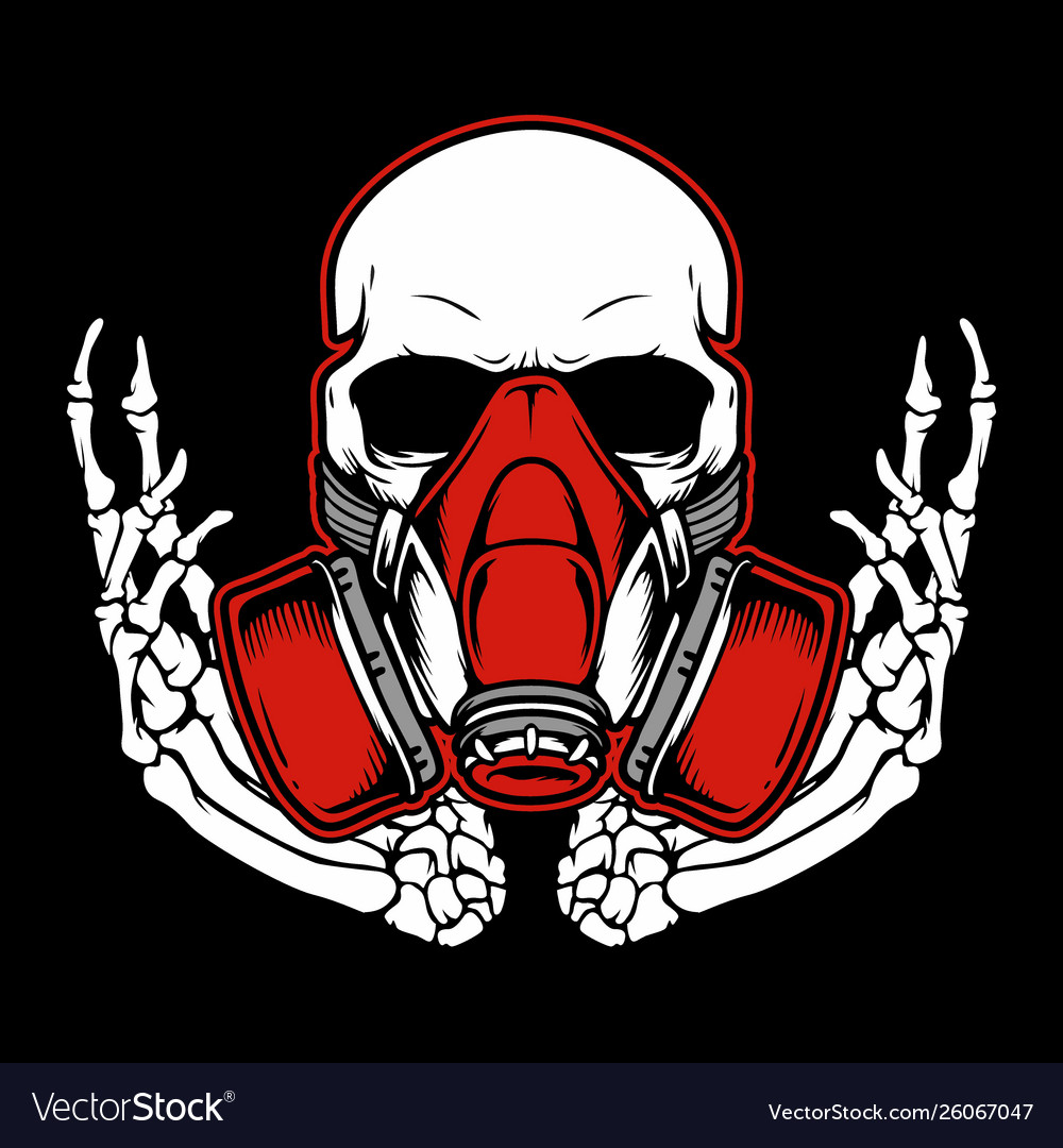 Get Skull With Gas Mask Logo JPG