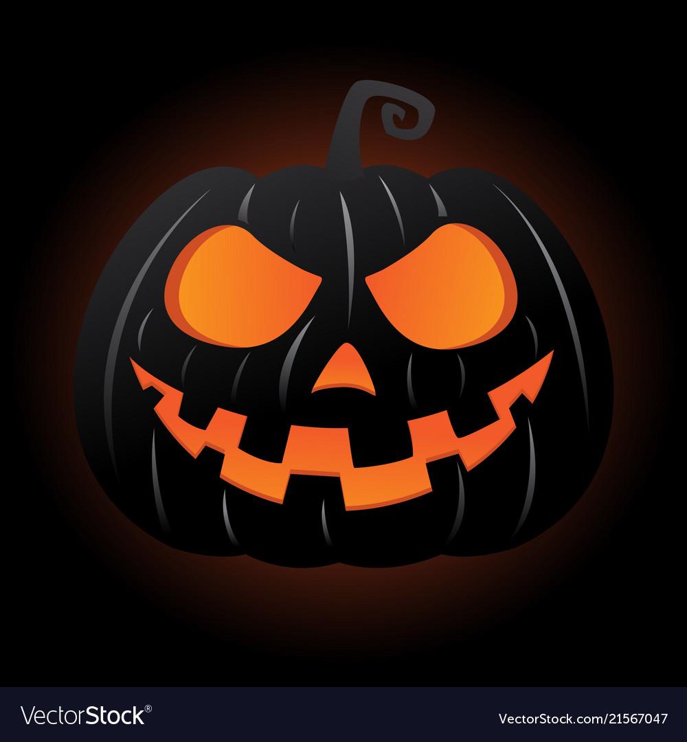 Jack o lantern pumpkin smiley face
