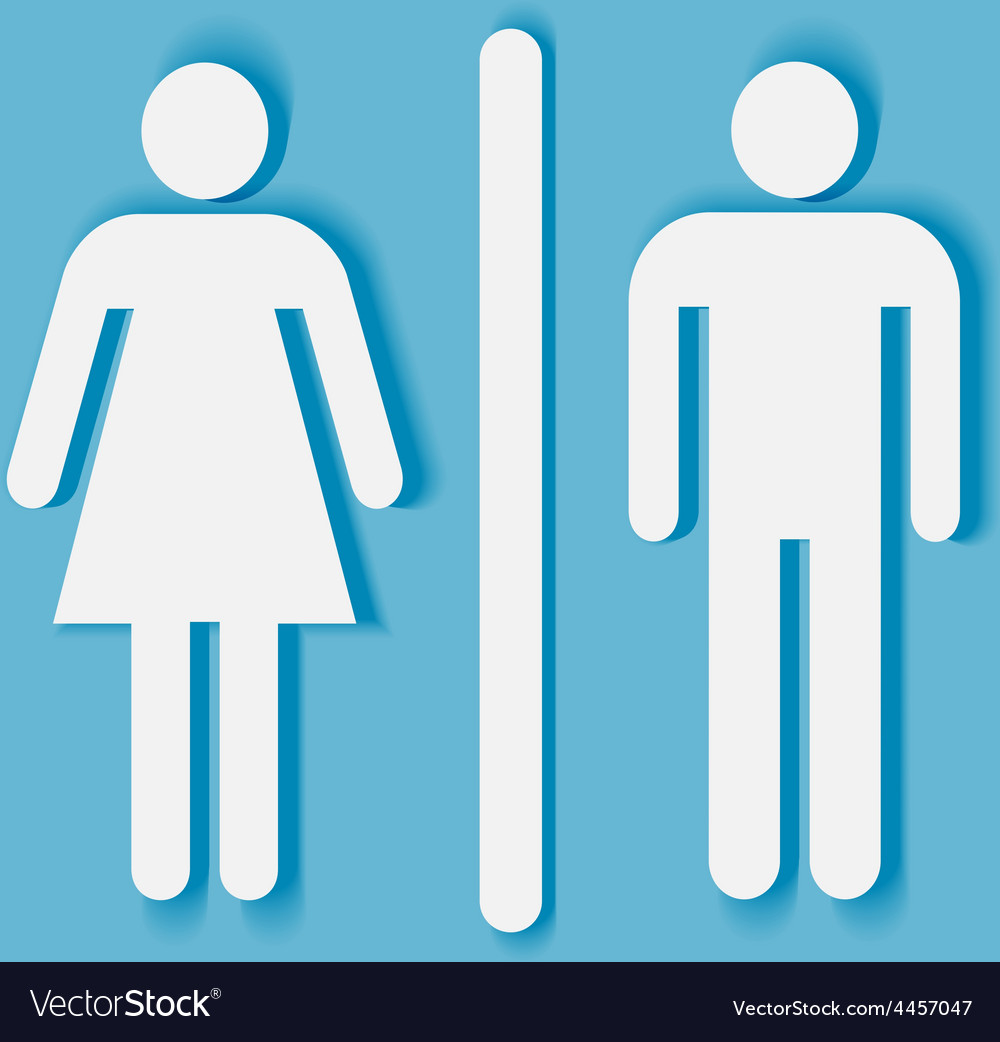 Man And Woman Bathroom Symbol Royalty Free Vector Image