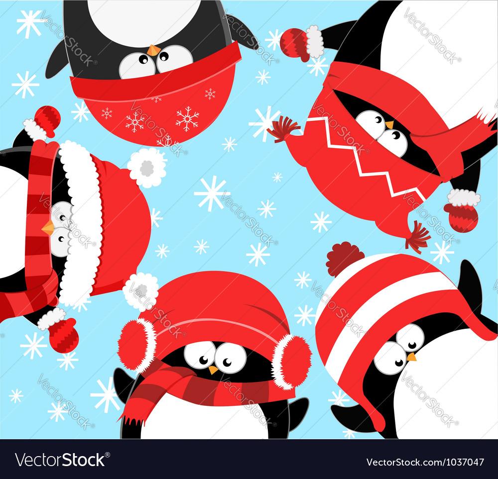Penguins Celebrating Christmas