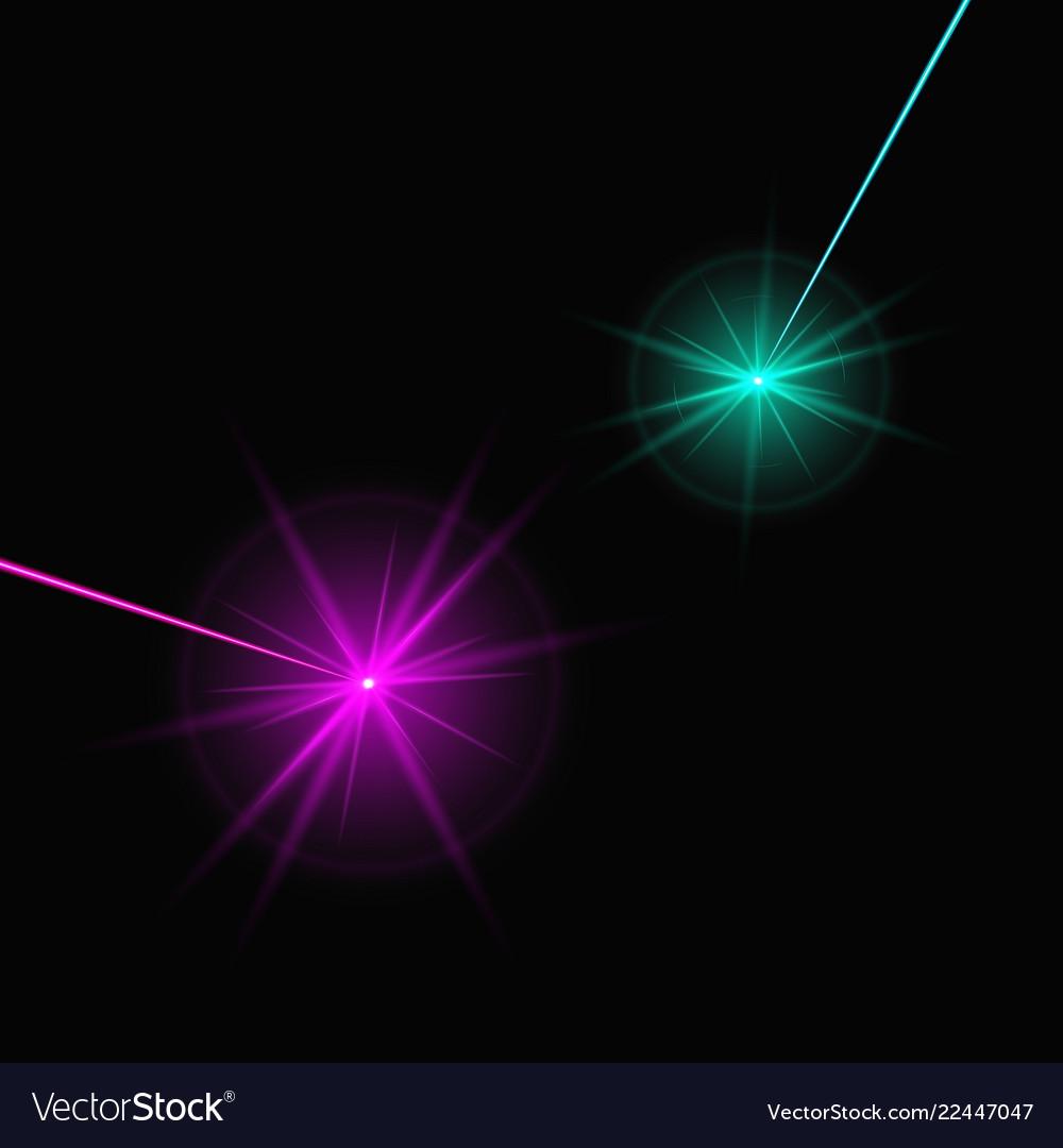 Two laser beams