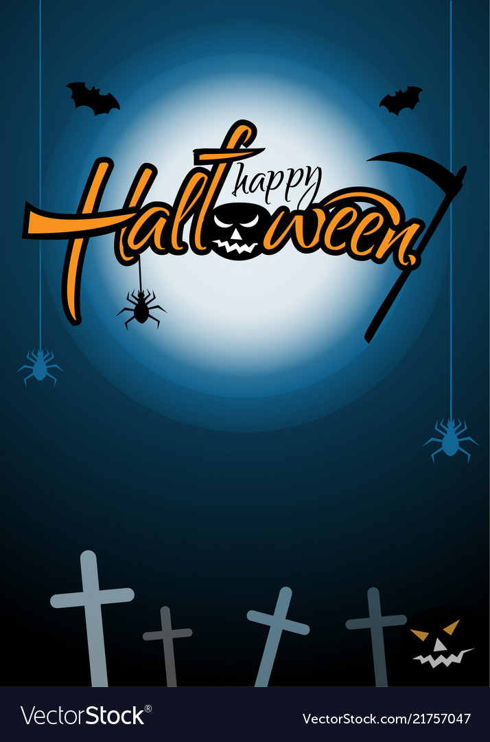 Vertical festive poster for halloween happy