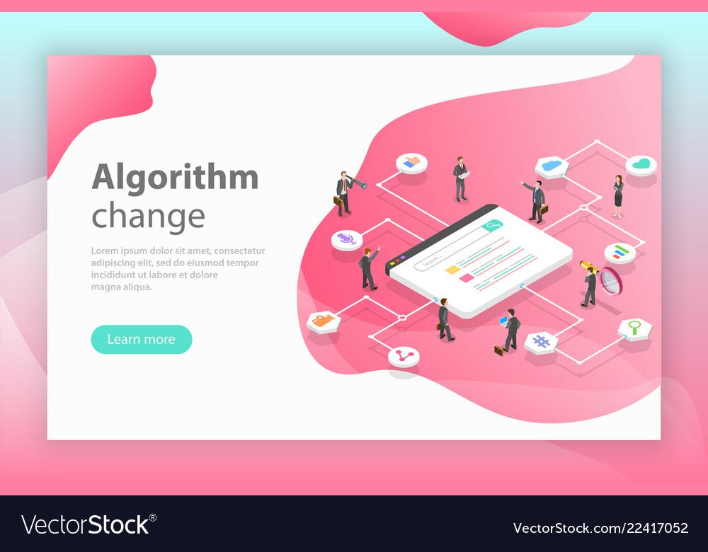 Algorithm change isometric flat conceptual