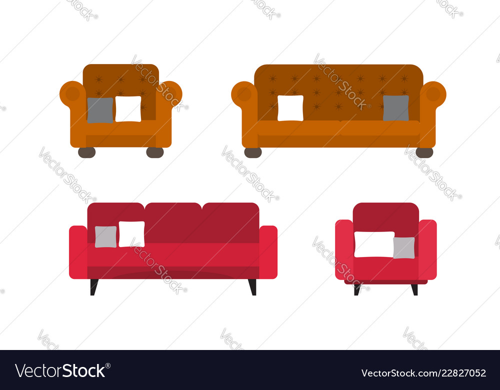 Collection of comfortable sofa and chair models