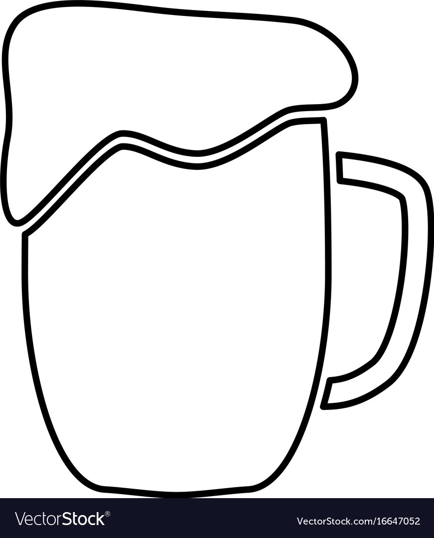 Cup beer black color icon vector image
