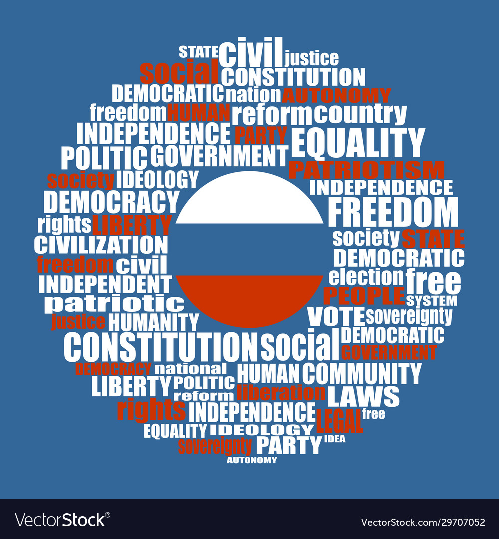 Democracy tags cloud concept