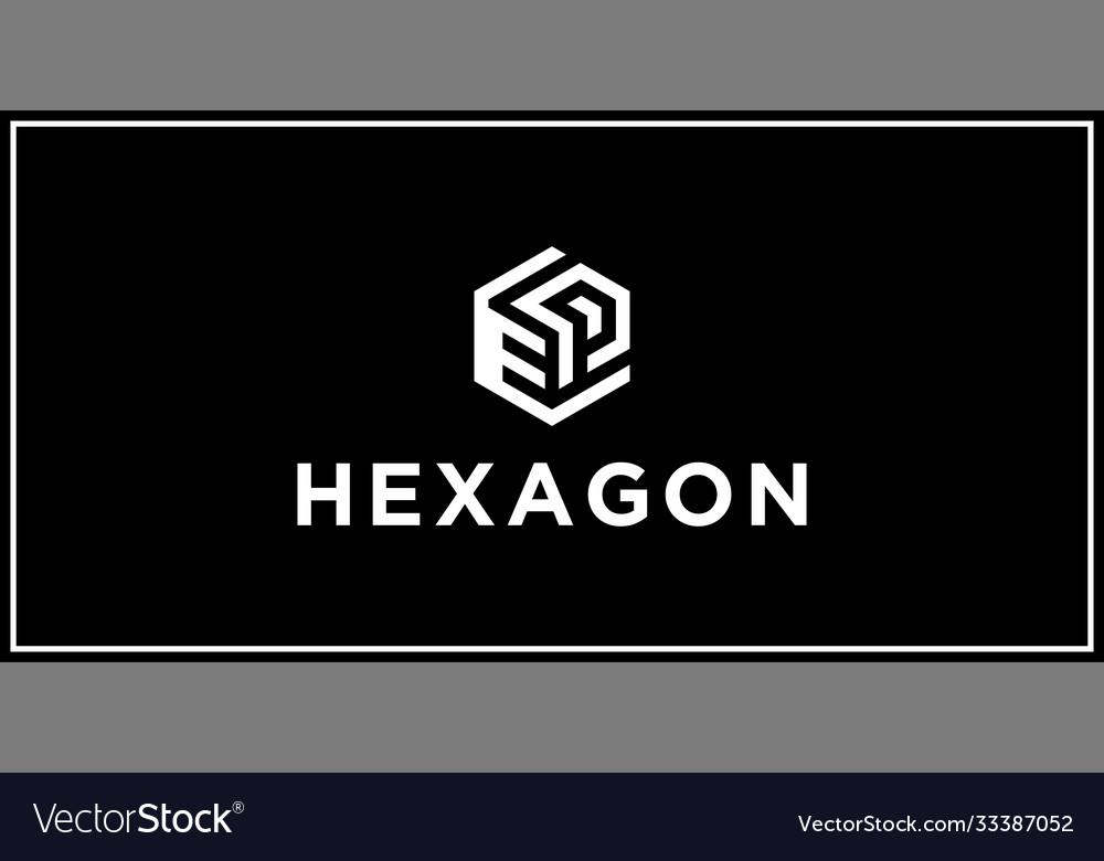 Ep hexagon logo design inspiration