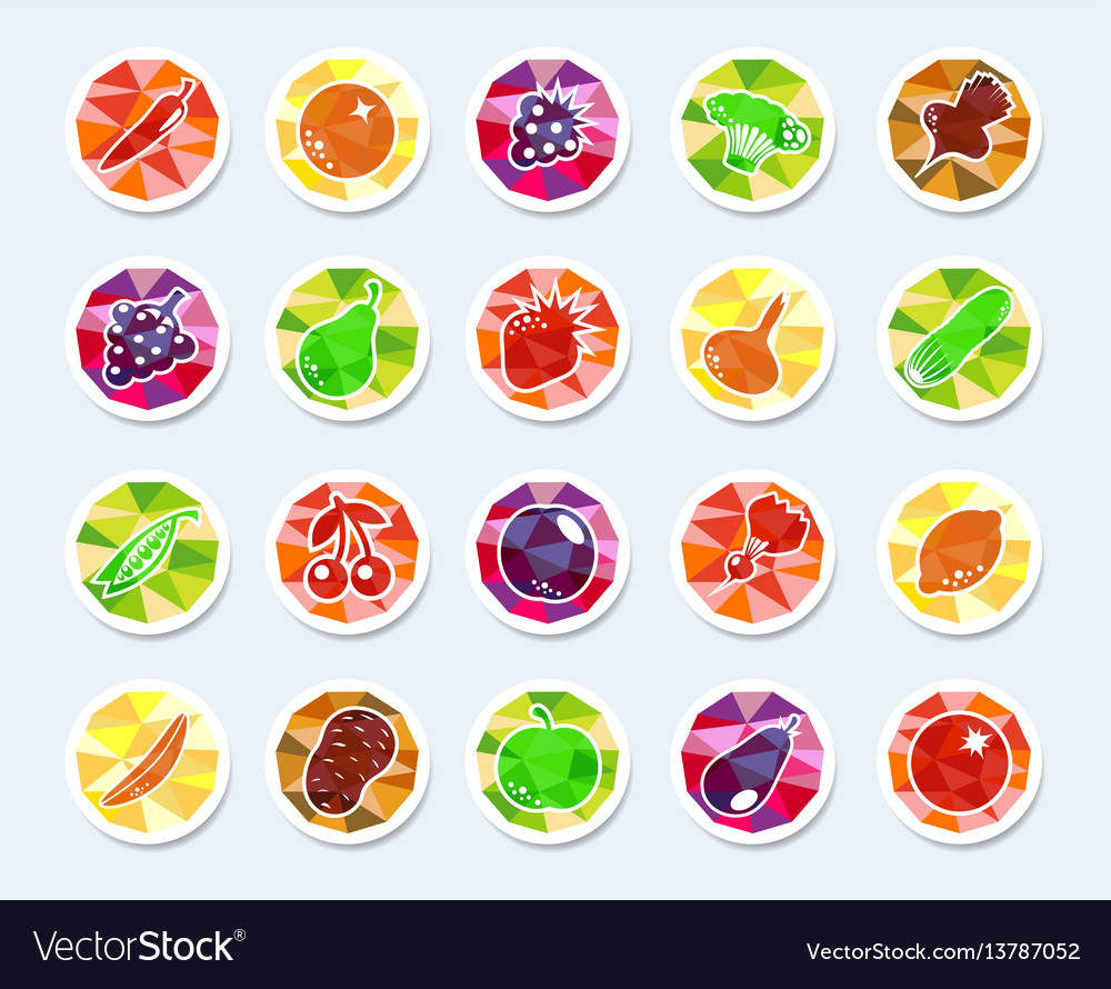 Fruit and vegetables icons