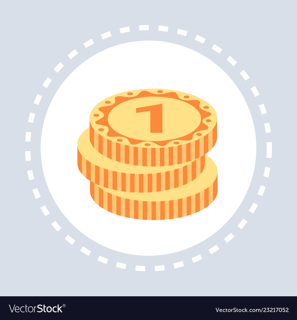 Golden coins stack money savings growth wealth
