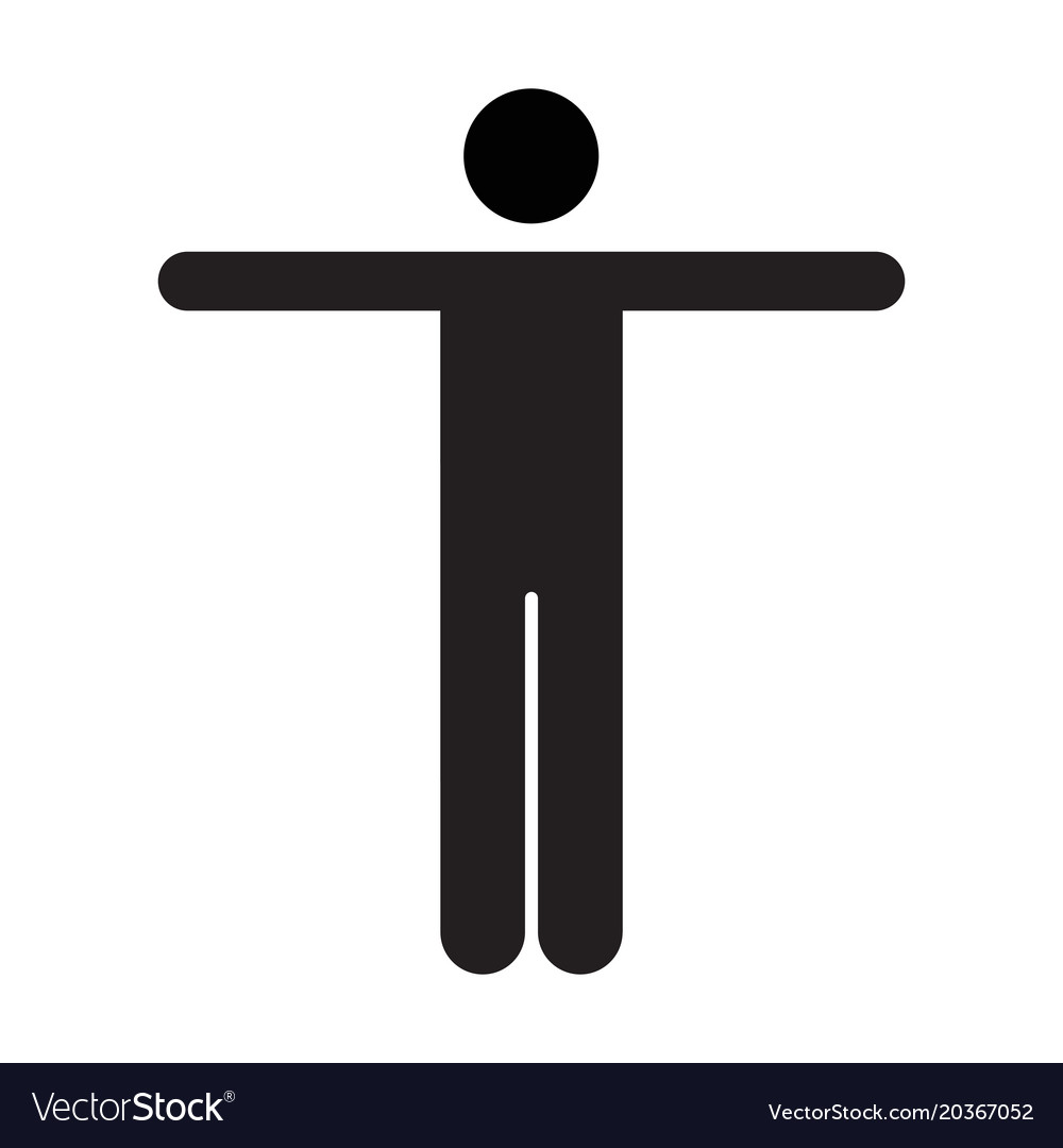 Man Icon Male Symbol Of Business Person Sign Vector Image