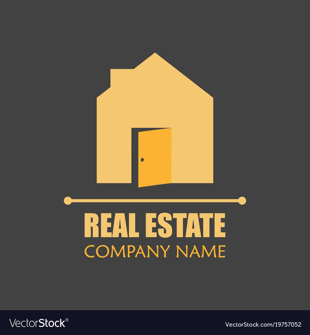 Modern real estate logo template creative home