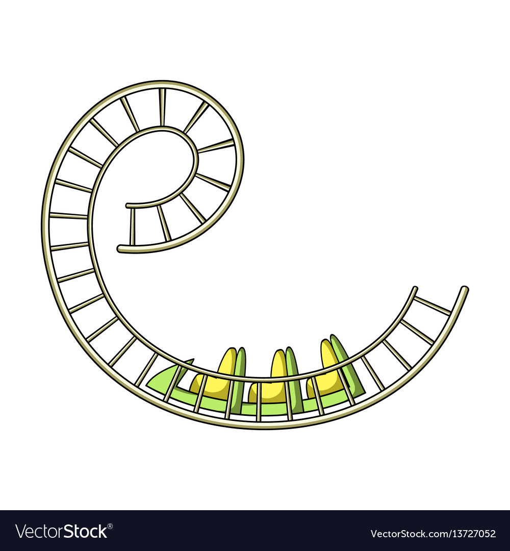 Roller Coaster For Children And Adults Dead Loops Vector Image Train Diagram