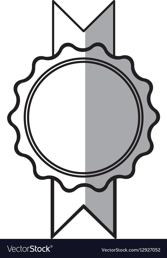 Rosette winner decoration shadow vector image