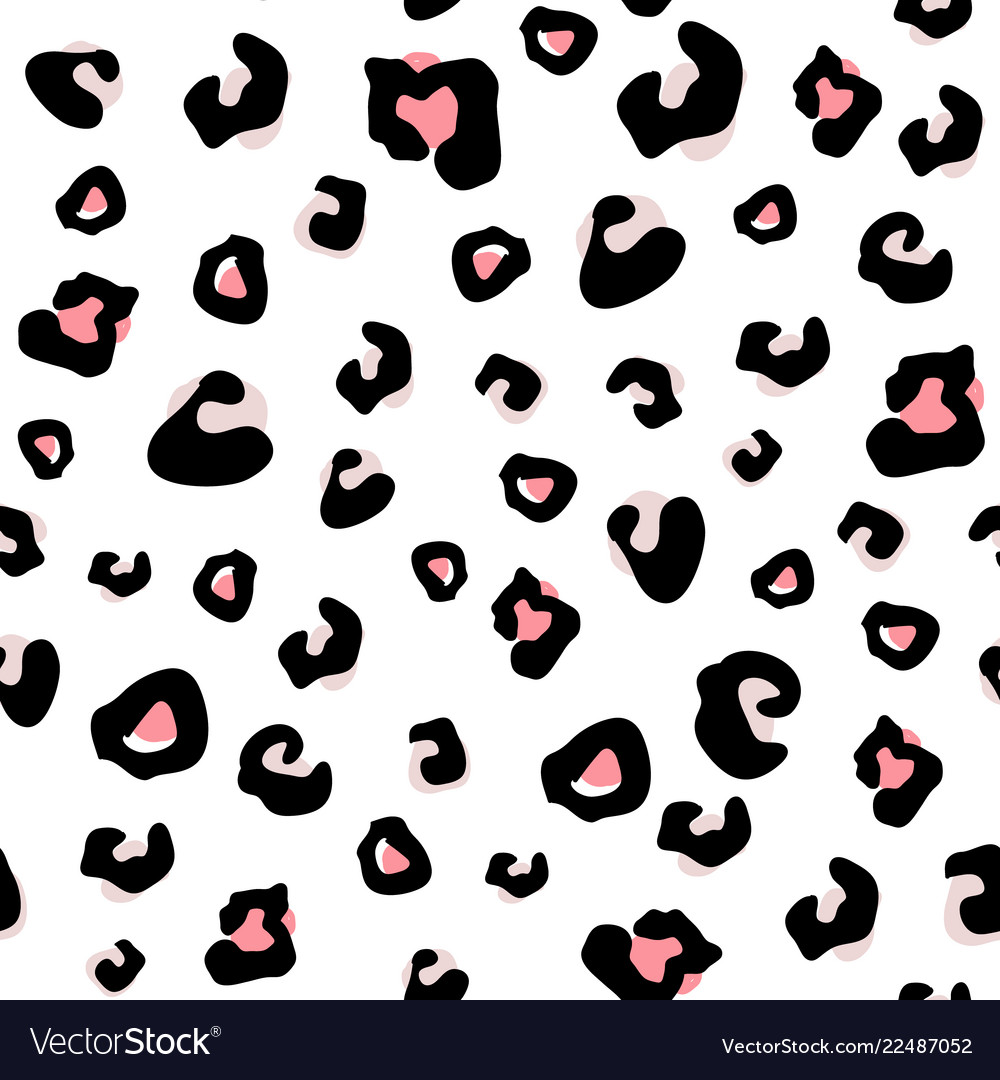 Seamless animal pattern with leopard dots