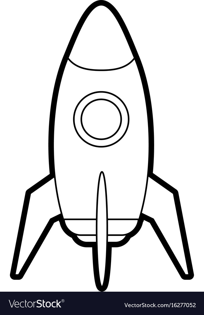 Space rocket launch icon