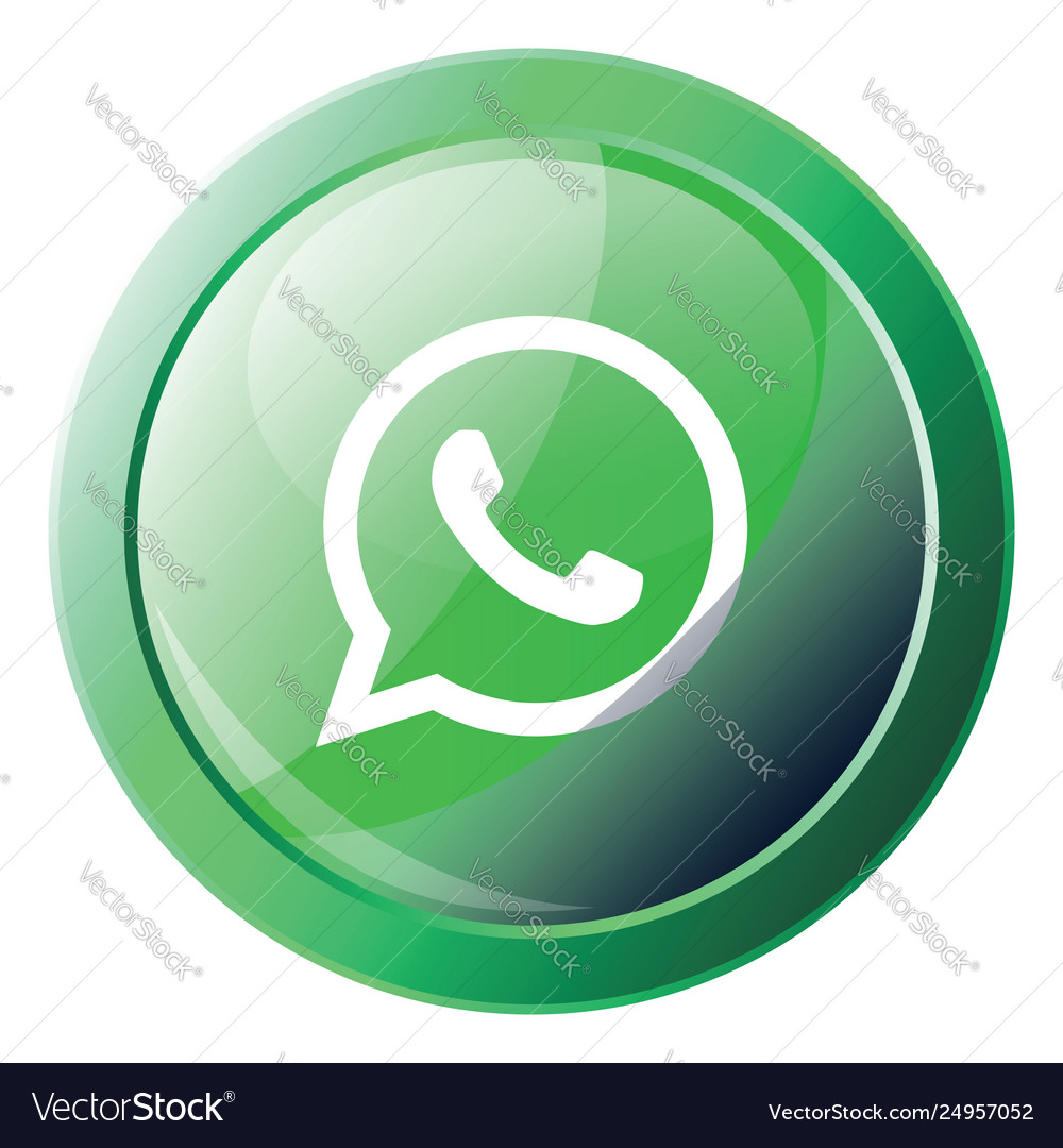 Wathsapp logo inside a green bubble icon on a